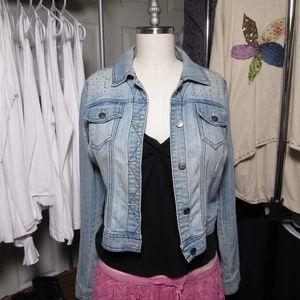 Jean jacket, embelished jean jacket